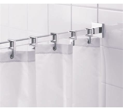 square shower curtain rod buy croydex square shower curtain rod and rings chrome