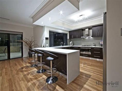 u shaped kitchens designs modern u shaped kitchen design using floorboards kitchen photo 329215