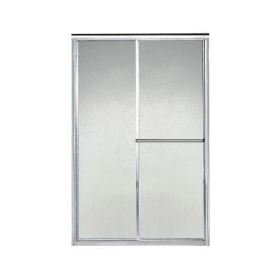 pebbled glass shower door sterling deluxe 44 in x 65 1 2 in framed sliding shower