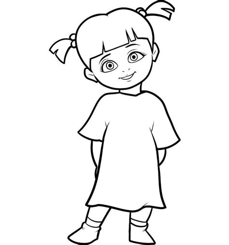 Boo Monsters Inc Coloring Pages easy monsters inc characters coloring pages coloring pages