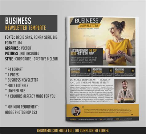 company newsletter ideas photoshop templates yognel