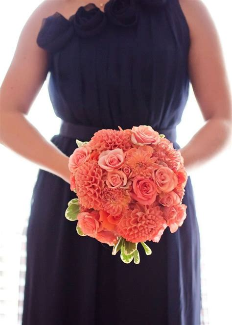 navy blue and coral wedding pretty palette navy blue and coral
