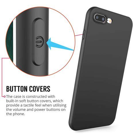 iphone 8 plus tpu silicone gel solid black matte