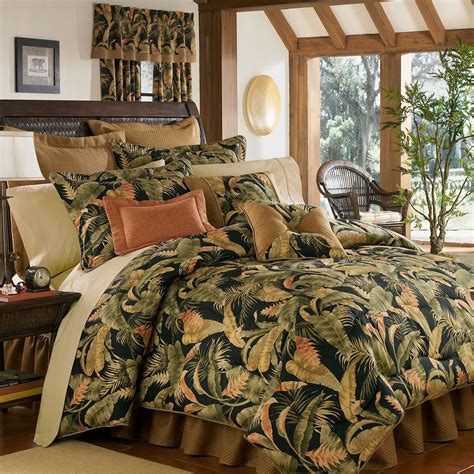 Sheets And Bedding by La Selva Black Tropical Comforter Bedding
