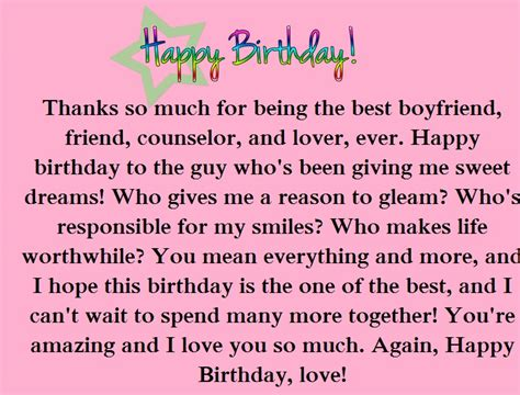 birthday paragraphs for your boyfriend happy wishes far