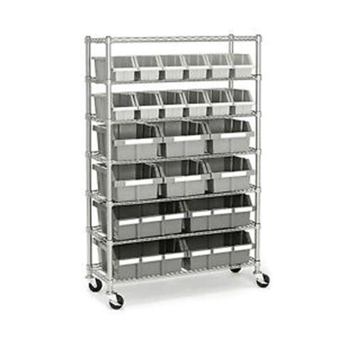 Garage Storage Racks On Wheels Garage Storage Systems Commercial Bin Rack With Rolling