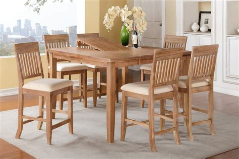 7 Counter Height Dining Table Set With 18 Quot Butterfly
