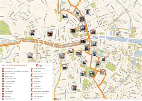 map of attractions printable national gallery of ireland dublin tripomatic
