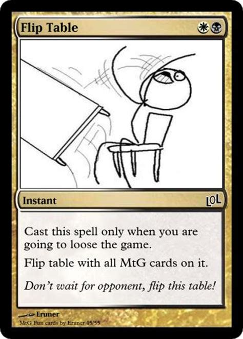 Flip The Table by Flip Table By Eruner On Deviantart