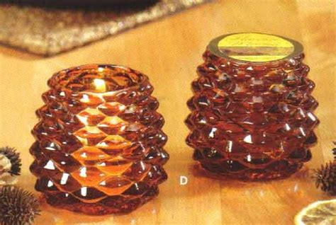 pine cone tea light holder tea light holders pack of 6 brown glass pine cone shaped