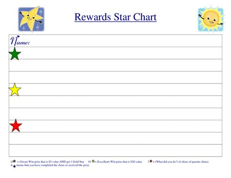 reward chart template wevo reward chart template kiddo shelter