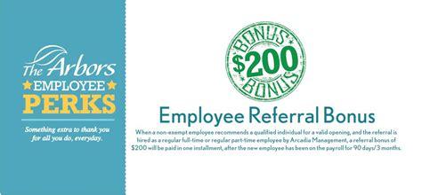 employee referral bonus