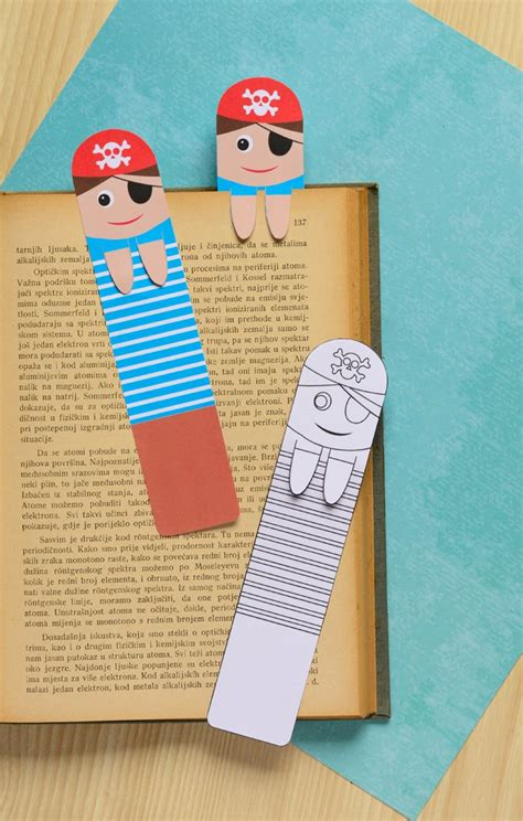 make in a day crafts for books printable pirate bookmarks diy bookmarks easy peasy