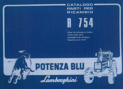 Lamborghini 754 Dt Ersatzteile by Sdf Archivio Storico E Museo