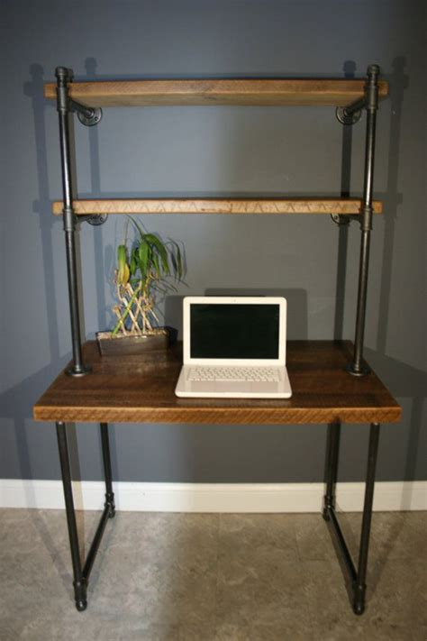 desk shelves for shelving unit computer desk industrial and modern reclaimed wooden computer desk w storage
