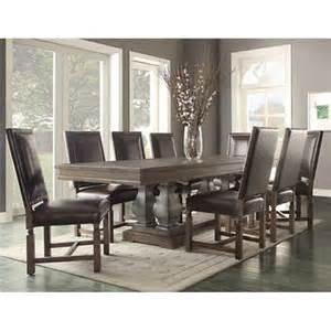 Costco Leather Dining Chairs Parador 9 Dining Set Bonded Leather