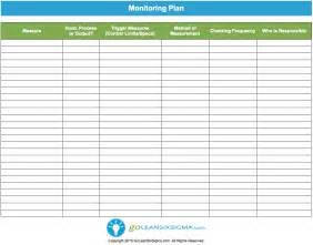 project monitoring plan template monitoring plan template exle