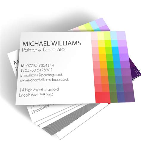 card templates for paint net painter decorator templated business card 2 able labels