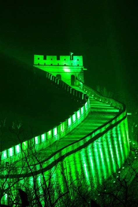 great wall in green to celebrate st s day 1