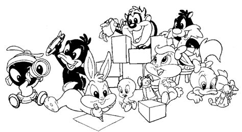 baby looney tunes 118 cartoons printable coloring pages
