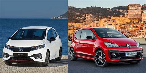 honda jazz and vw up gti family car favourites vs sporty