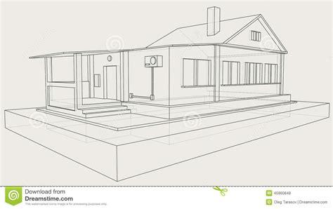 disegno tecnico casa disegno tecnico della casa grigia illustrazione vettoriale