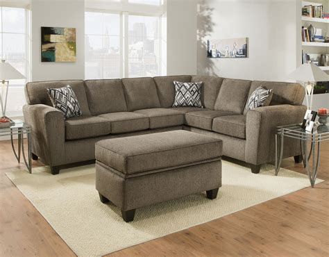 American Furniture 3100 Cornell Pewter Sectional Crazy