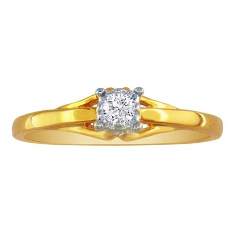 05ct promise ring in 10k yellow gold