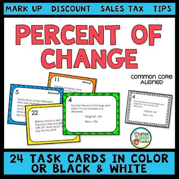 Gift Card Sales Tax - percent of change task cards with tips discount markup and sales tax