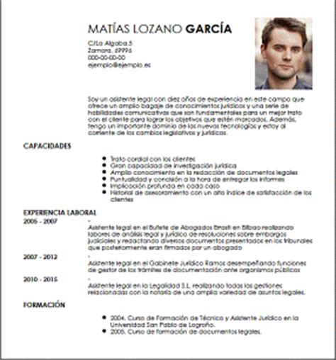 Modelo De Curriculum Vitae Para Abogados Argentina Modelo Cv Asistente Livecareer