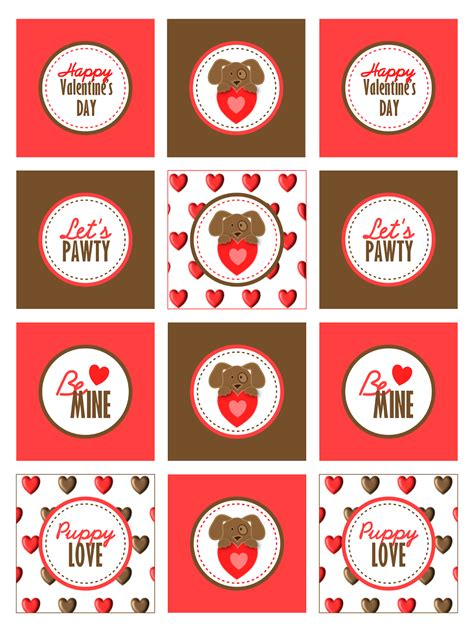 valentines day free printables free printable puppy s day kit