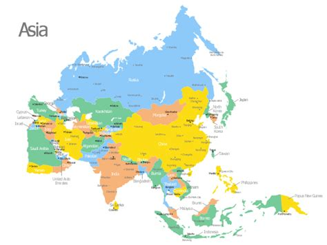 political map of asia with capitals maps update 12001538 asia countries and capitals map