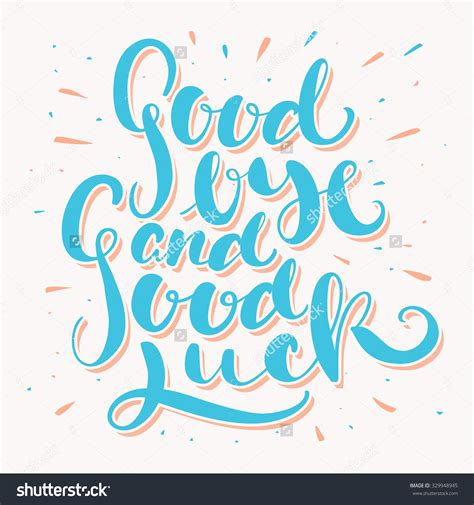 luck card word template goodbye best wishes clipart