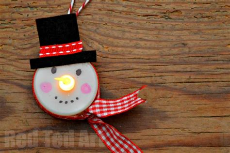 crafts with lights tea light snowman ornament ted s