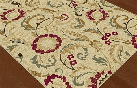 ivory transitional floral vines area rug multi color