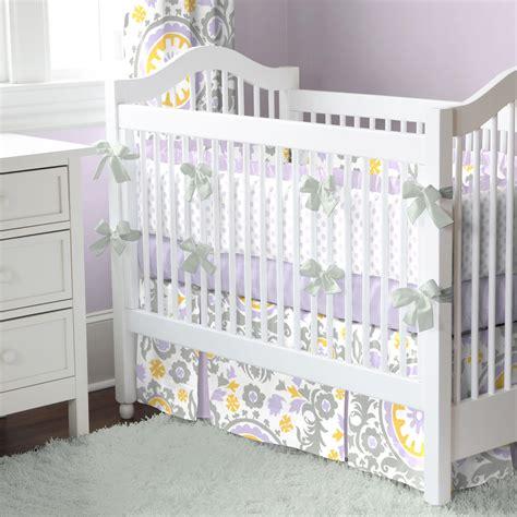 Infant Crib Sheets by Lilac Suzani Crib Bedding Baby Bedding Carousel