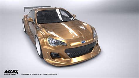 subaru brz wide body ml24 automotive design prototyping and body kits