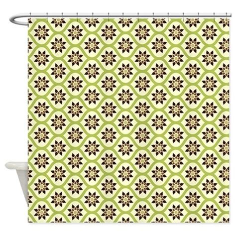 lime green and brown shower curtain lime green brown flowers shower curtain by nicholsco