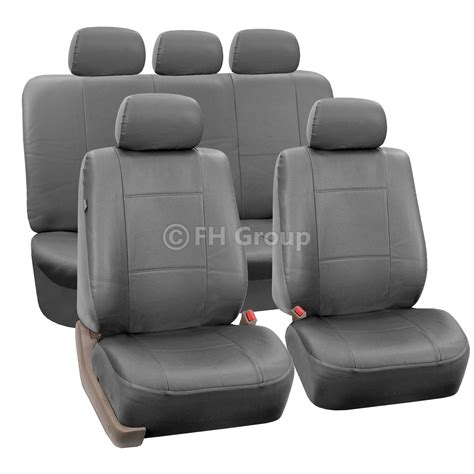 split bench seat cover pu leather car seat covers w carpet floor mats for split bench ebay