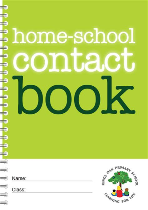 personalised home school contact book bhsc02