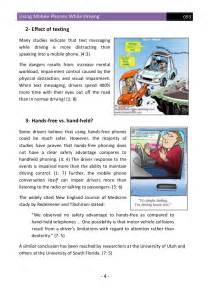 Cell Phones While Driving Essay by Using Mobile Phones While Driving Effects Solutions