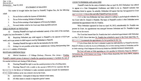 family court report template 中国茉莉花行动部落 judge miller helps ccp to persecute