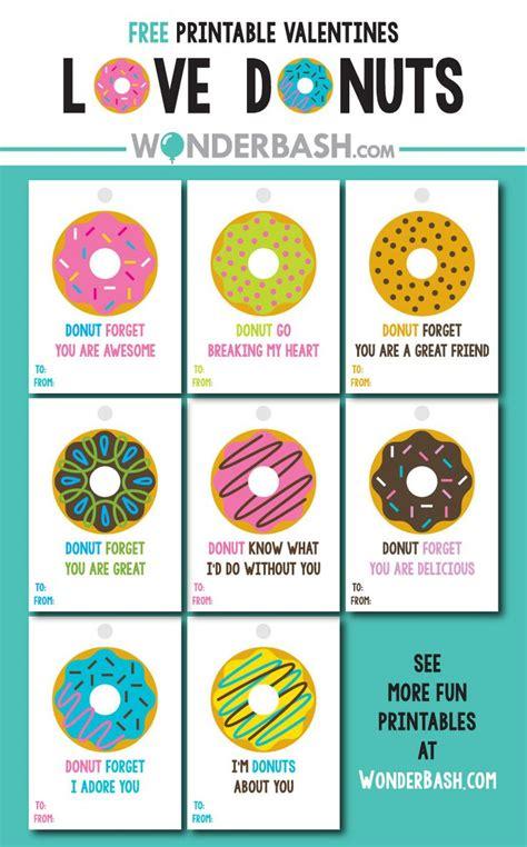 printable valentine tags pinterest donut valentine s labels free download printable wonder