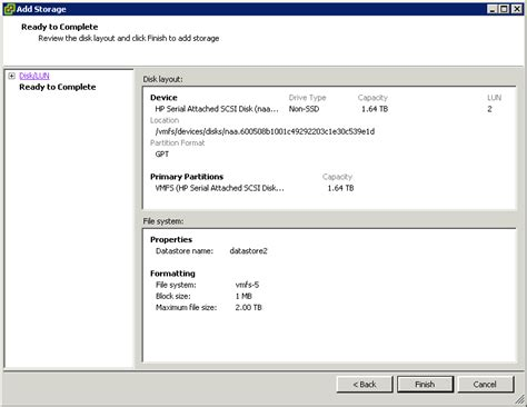 format hard disk esxi add datastore from local hard drive in vmware esxi host
