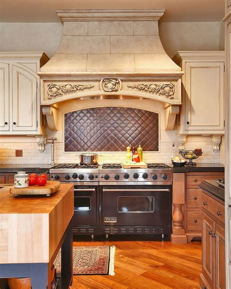 kitchen stove backsplash 20 copper backsplash ideas that add glitter and glam to