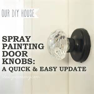 spray paint a door knob a cheap easy update the diy
