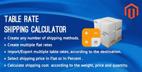 what is table rate shipping table rate shipping calculator magento extension by