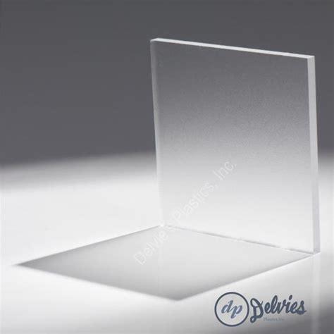 Clear Frosted Non Glare Acrylic Sheet Delvie S Plastics Inc
