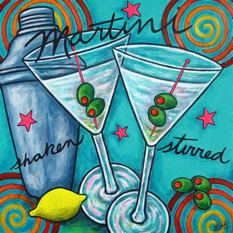 martini painting retro martini painting by lorenz