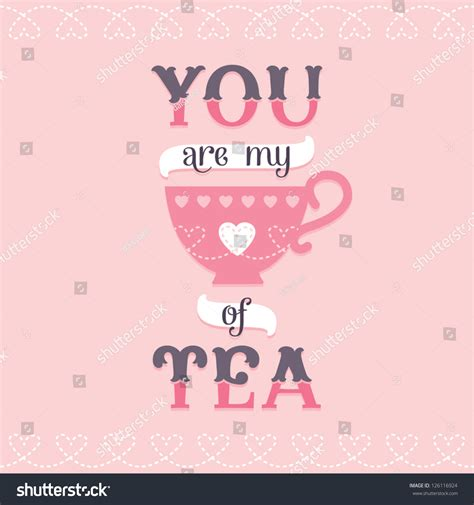poster design love vector love card or poster design with tea cup icon and